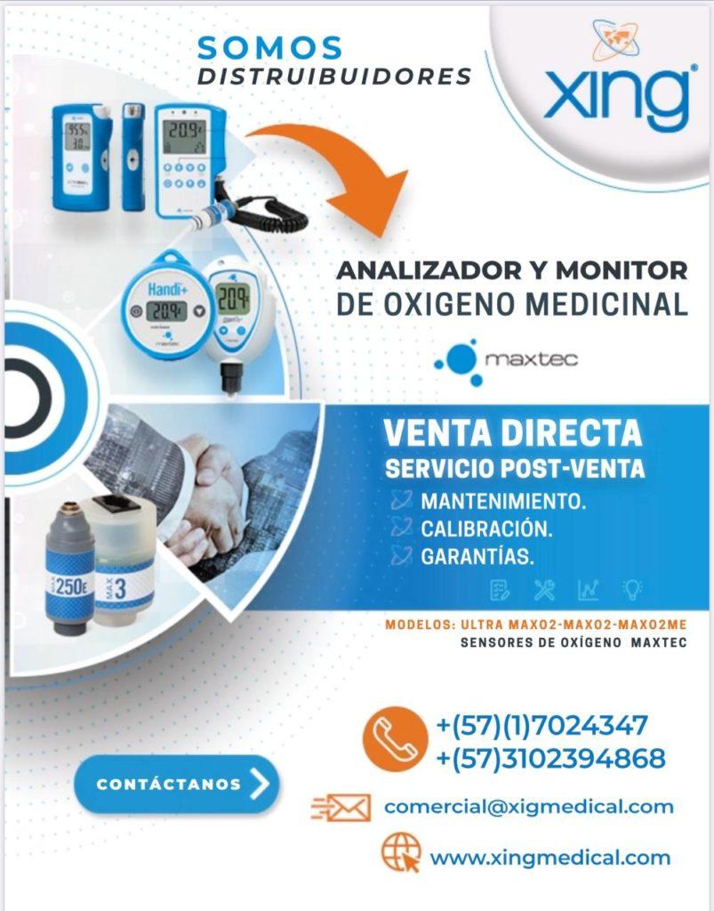 ANALIZADOR DE OXIGENO COLOMBIA INGMEDICAL MAXTEC